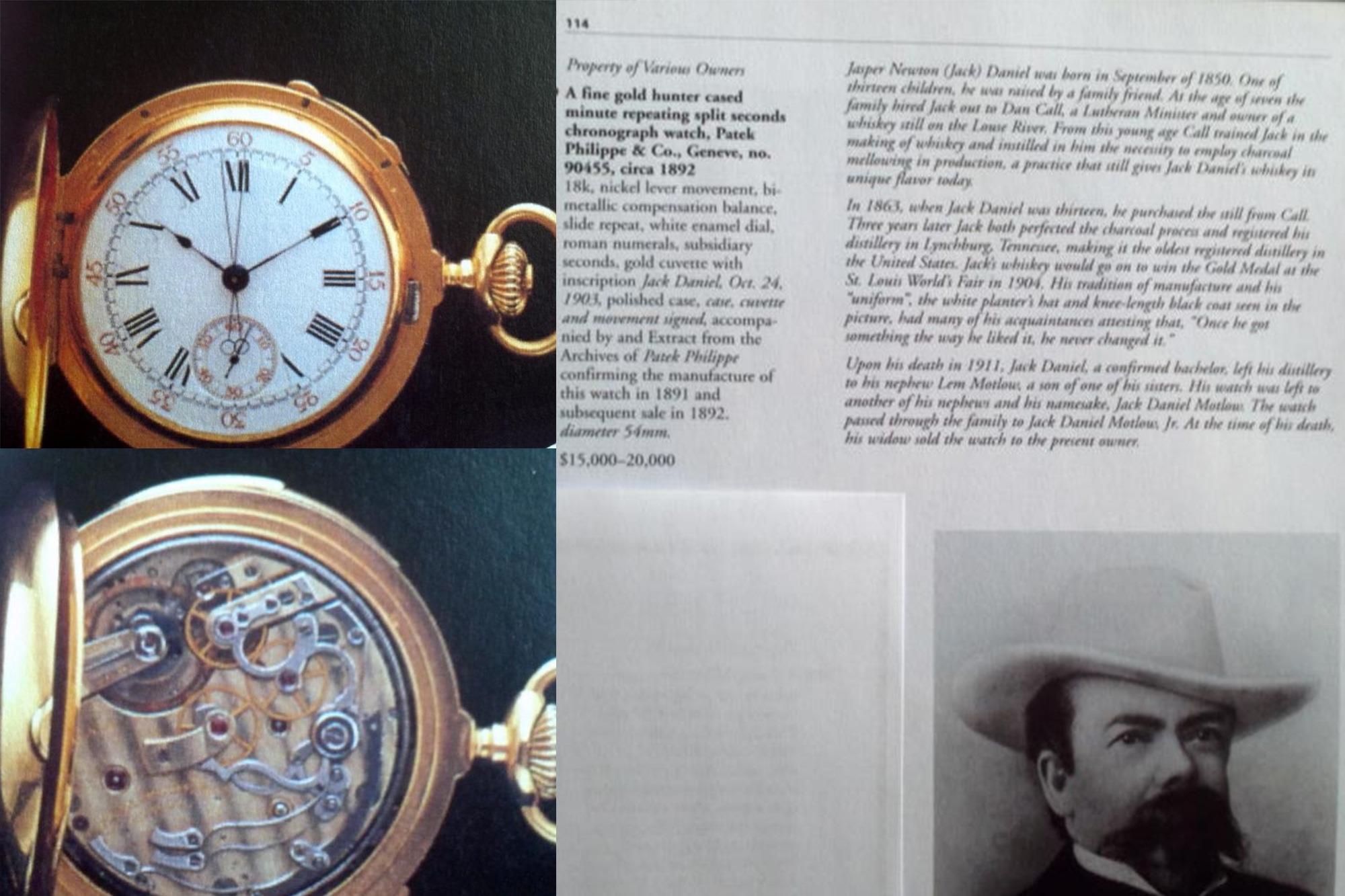 Catalogue Sotheby's - Patek Philippe de Jack Daniel's