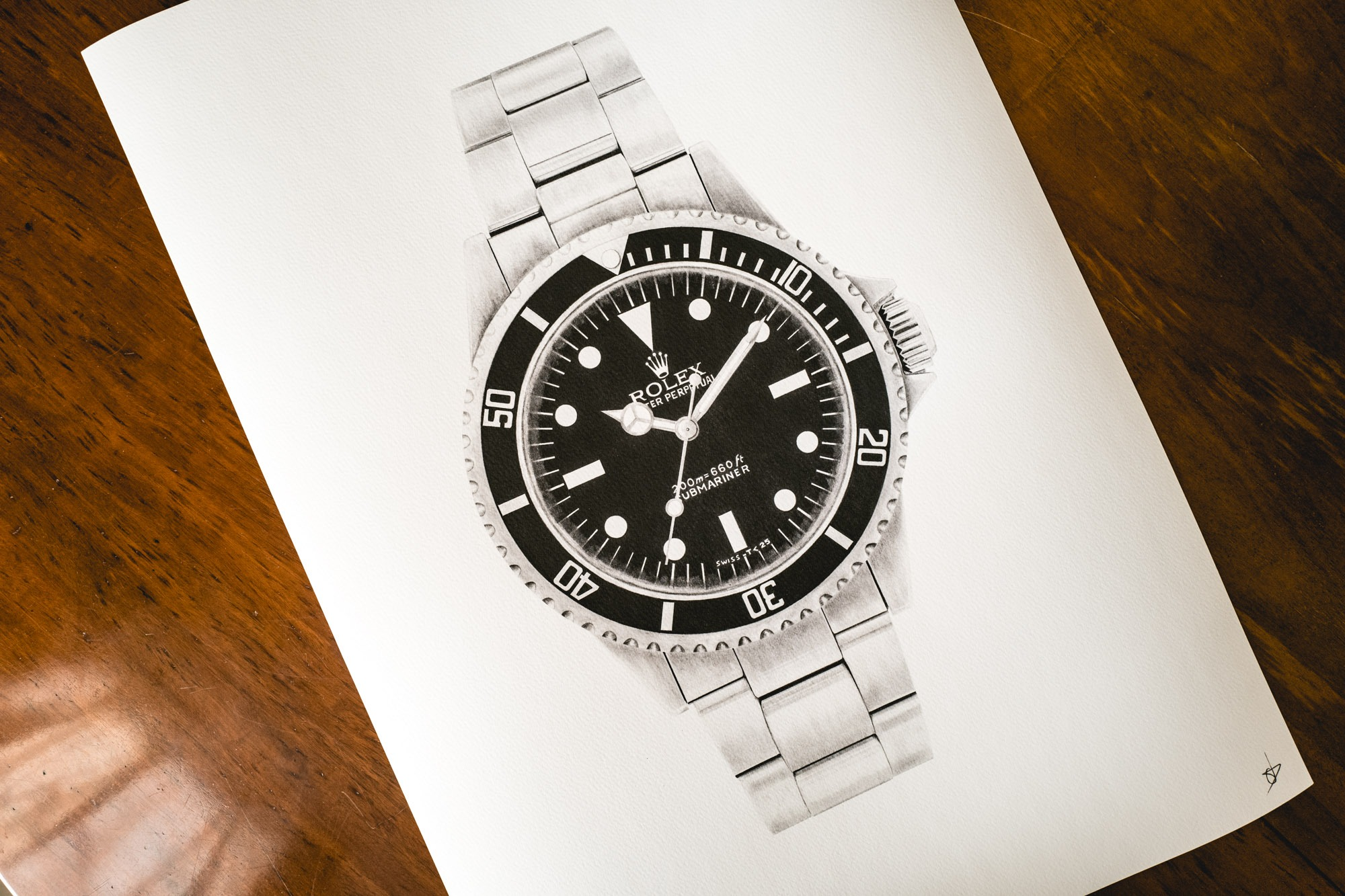 Constance Tournier Drawings - Rolex Submariner 5513 Meters First