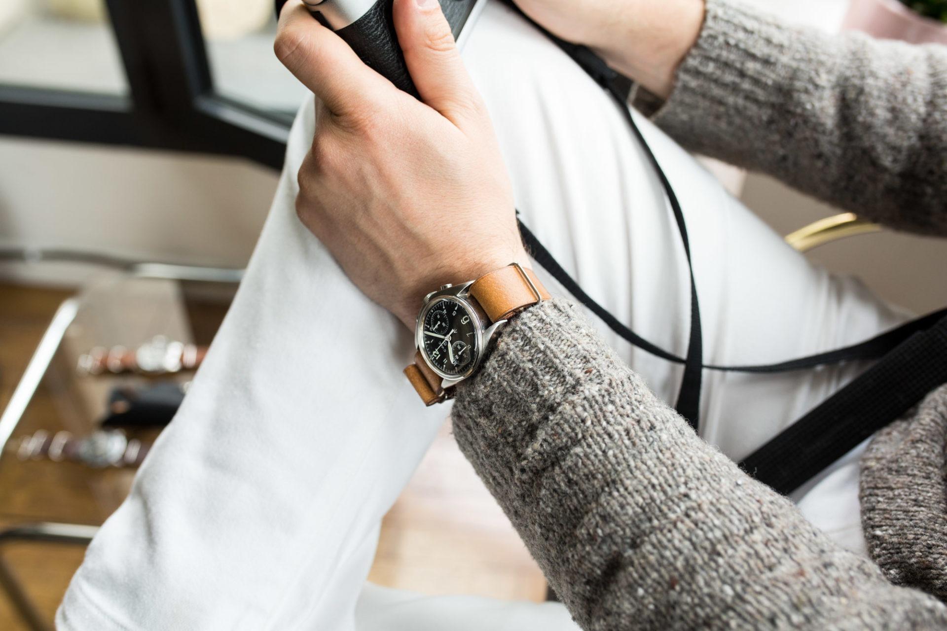 Joseph Bonnie - Bracelet de Montre Nato en cuir vintage des Tanneries Gal - Couleur Caramel