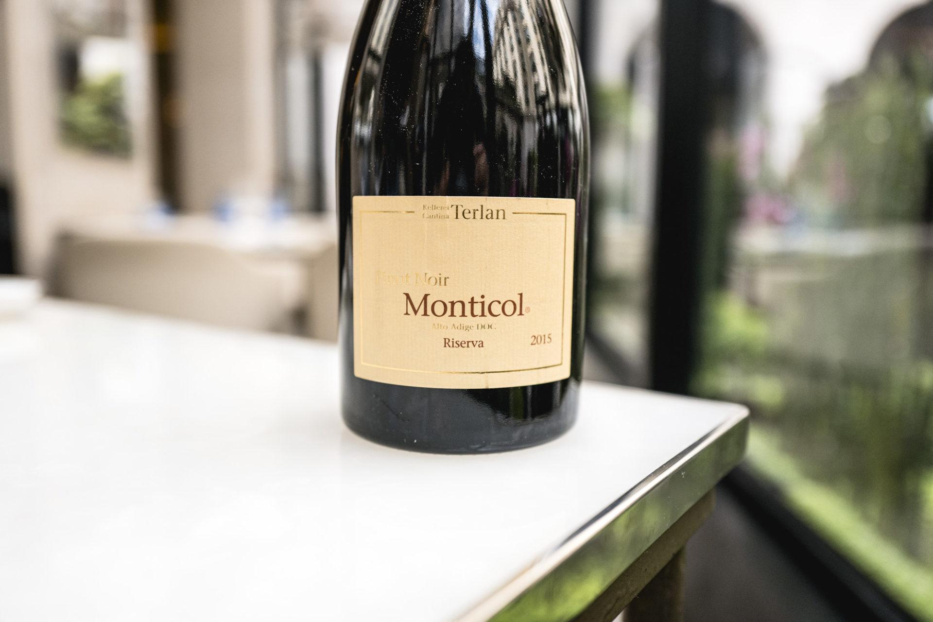 Sélection de vin au restaurant Le George - Pinot Noir Monticol Réserve 2015
