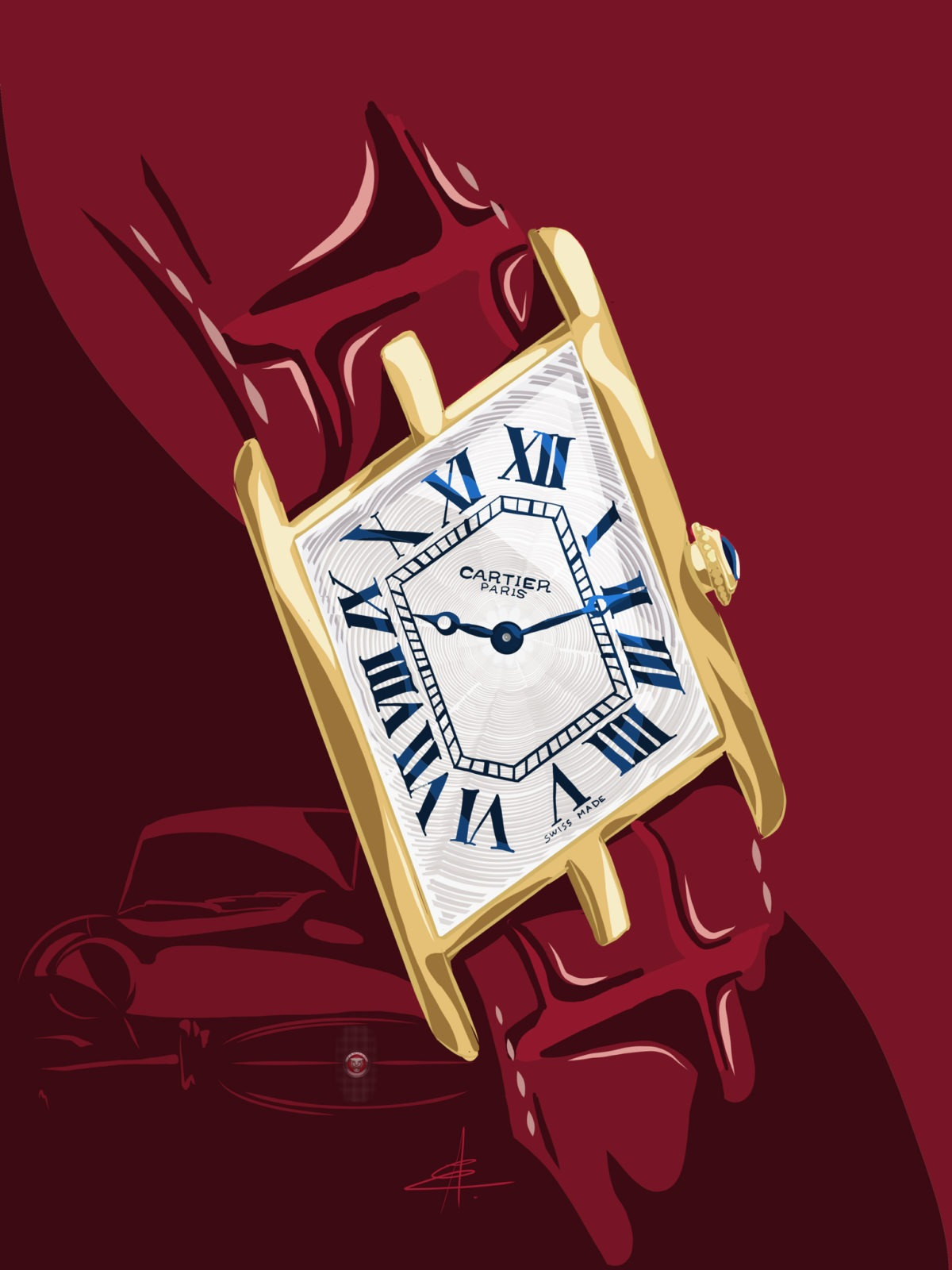 Watchoniste - Cartier Asymétrique