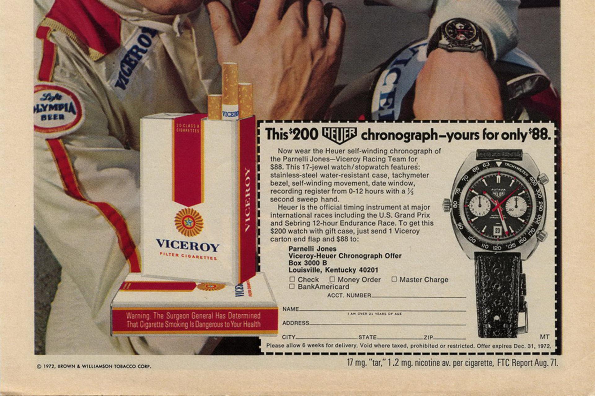 Publicité Heuer Viceroy