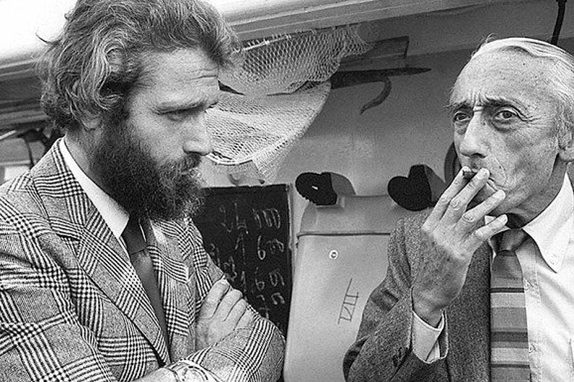 Philippe Cousteau et Jacques-Yves Cousteau