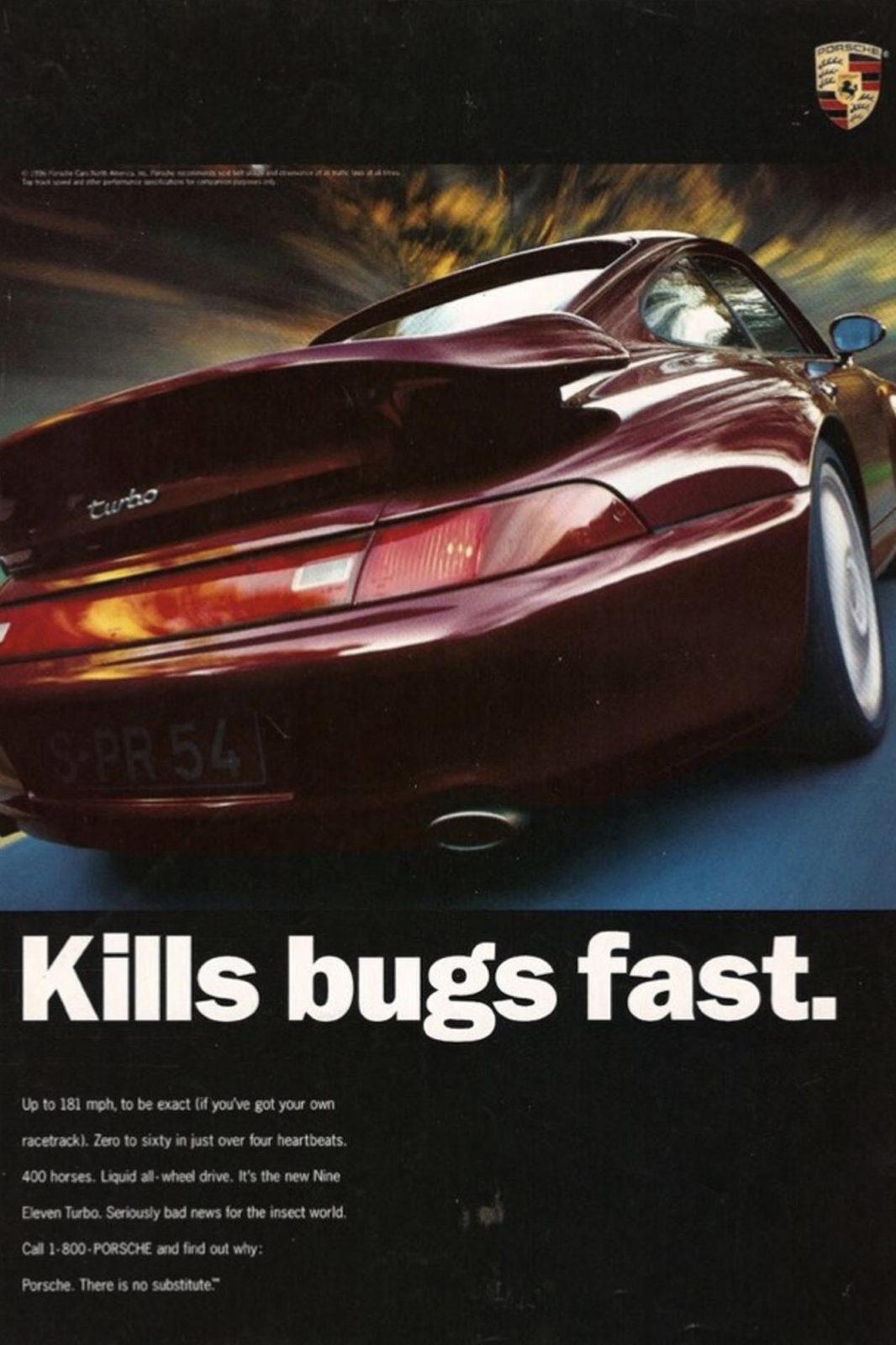 Publicité Porsche 911 type 993 Turbo