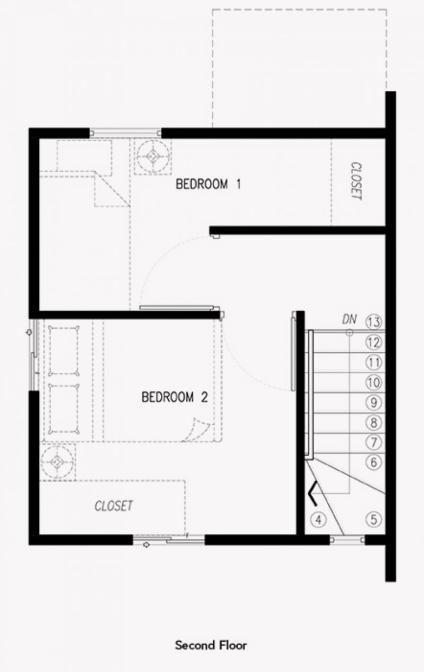 criselle single firewall home second floor plan
