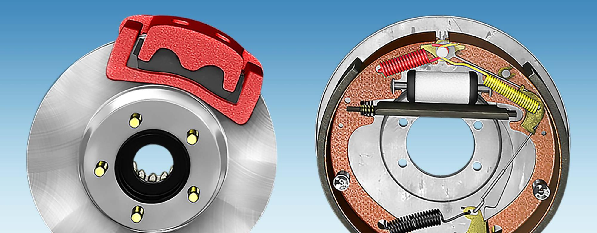 hight resolution of a side by side comparison of a disc brake and a drum brake