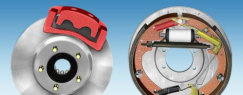 small resolution of a side by side comparison of a disc brake and a drum brake