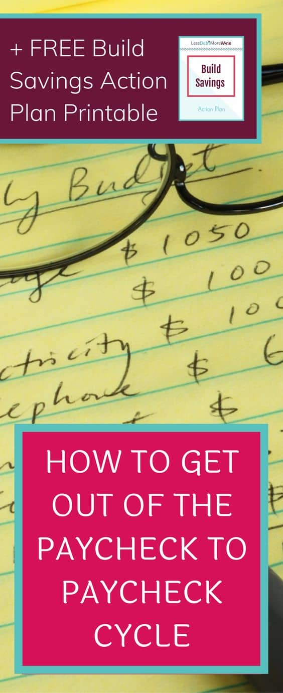 When you are living paycheck to paycheck it can be nearly impossible to see a way out. However, with some consistent effort and some time, it's possible.