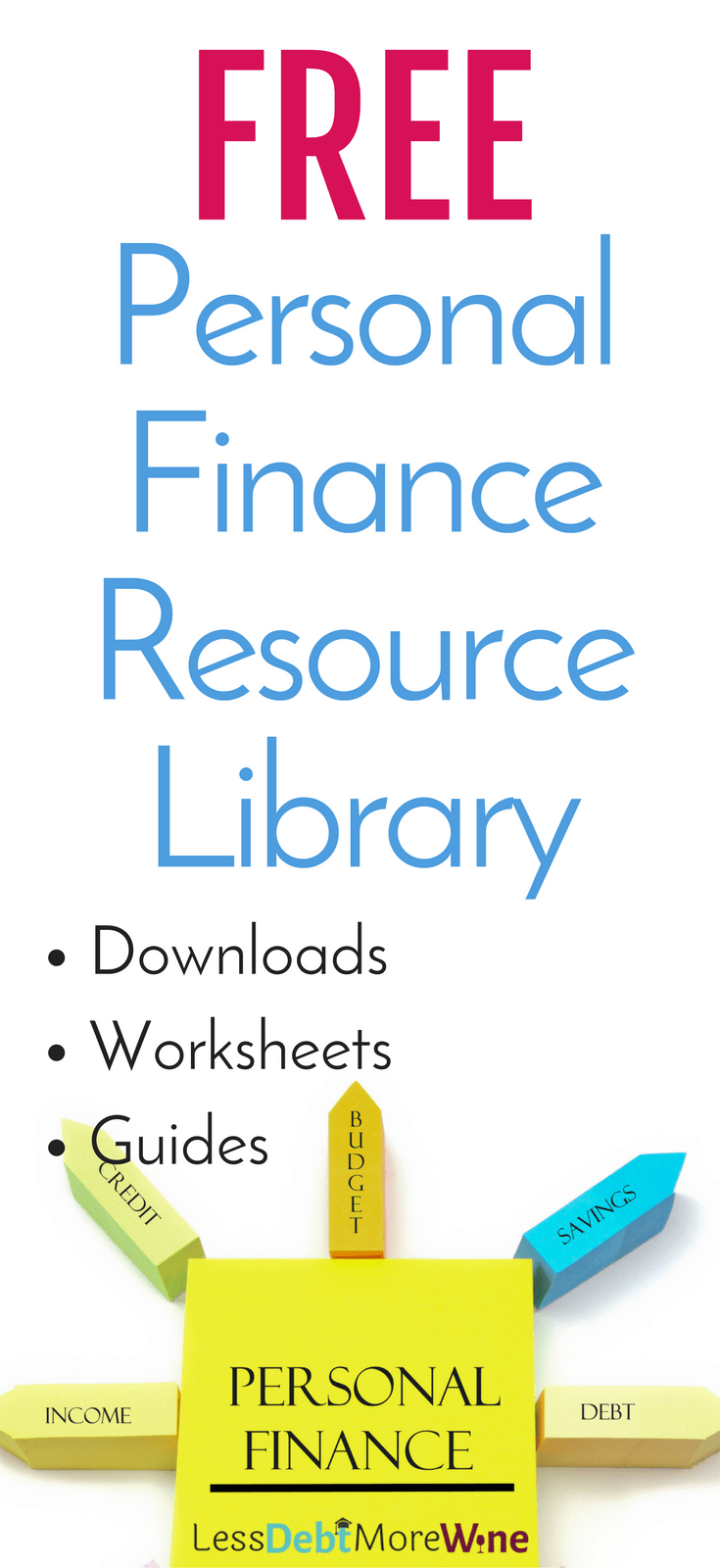 Resource Library Optin - Less Debt, More Wine