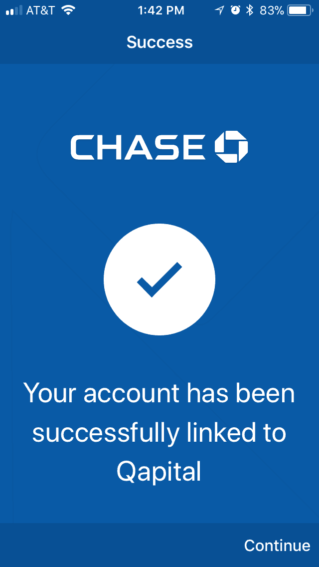 successfully setting up a bank account in Qapital