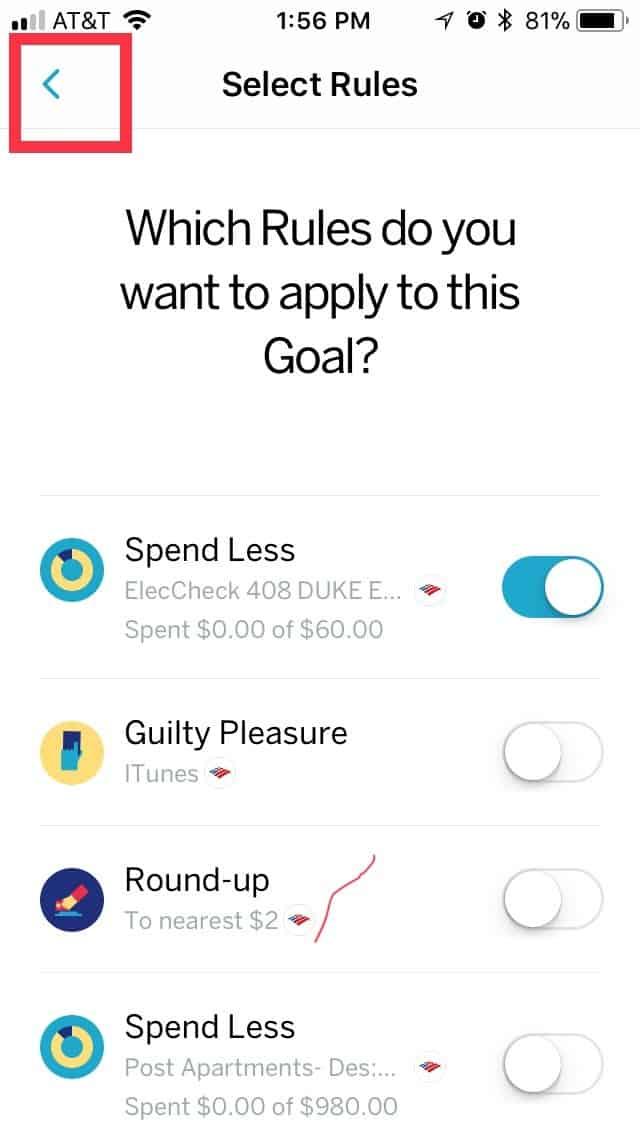 create a goal in Qapital