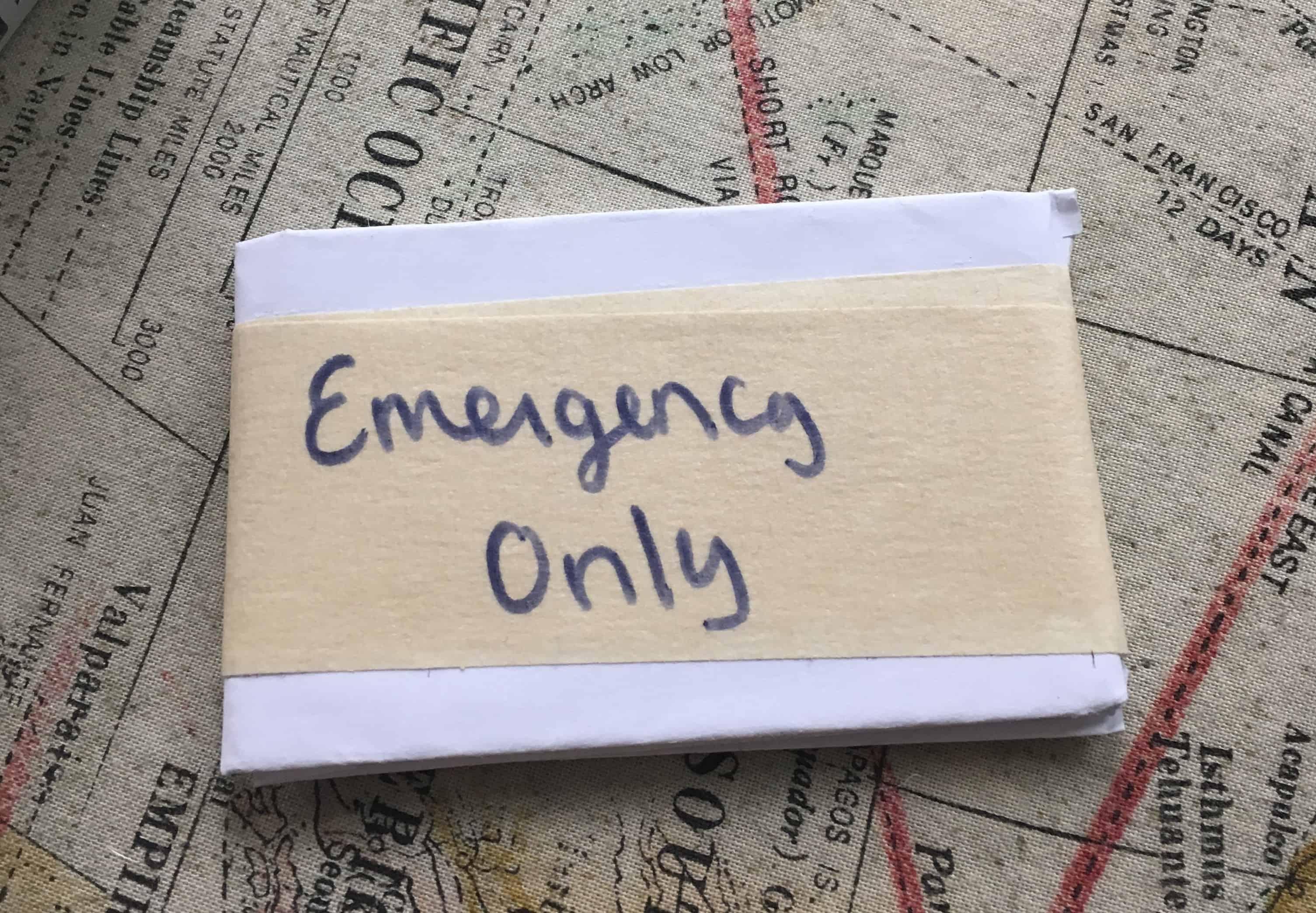emergency credit card