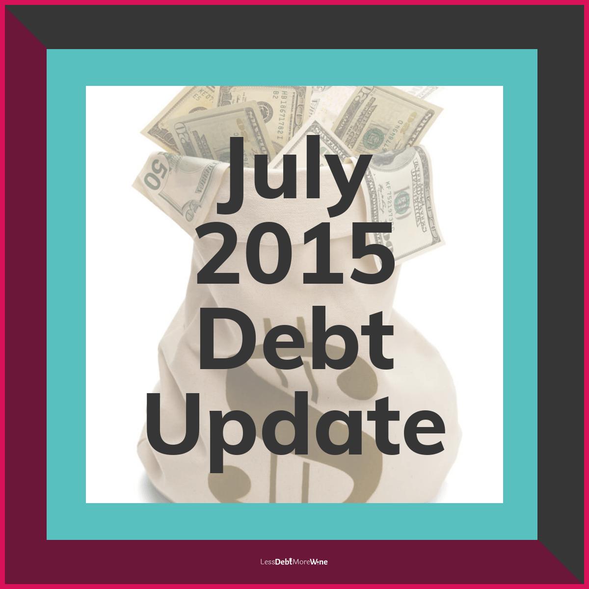 July 2015 debt update, debt payoff progress