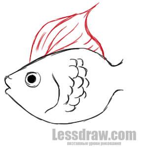Paano Gumuhit ng Goldfish Phased Pencil.