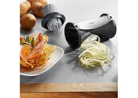 gefu porte legumes pour spirelli taille spaghetti de legumes les secrets du chef