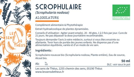 Alcoolature Scrophulaire noueuse Bio et Simples