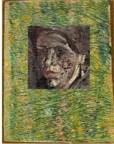97/5000 Vincent van Gogh - Patch of Grass con un ritratto di una donna dietro (per gentile concessione di livescience.com)