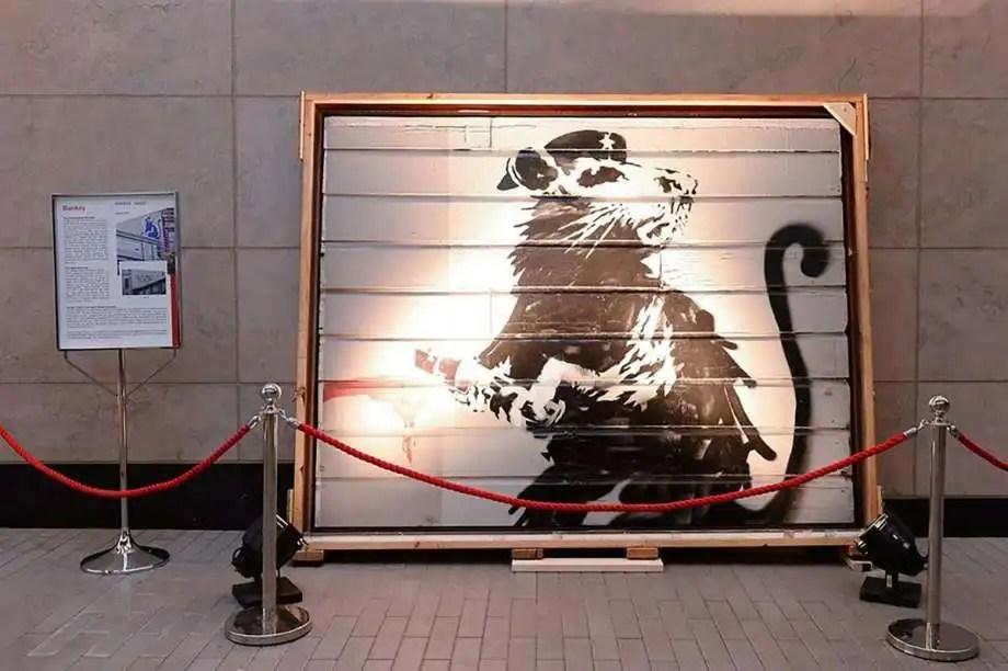 "Haight Street Rat"" di Banksy Photo: Brian Grief"
