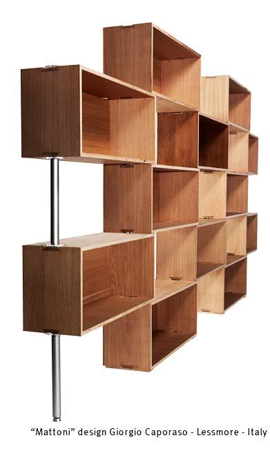 Mattoni  Libreria modulare in cartone by Lessmore