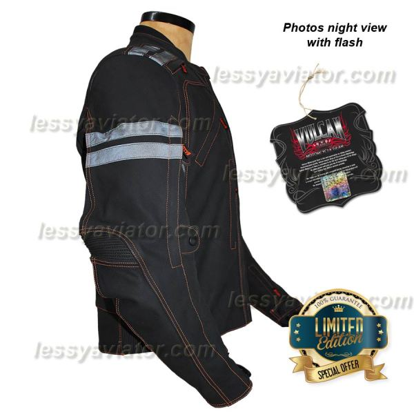 Jacket Vulcan Leather Vtz 910 Armored With Thermomix