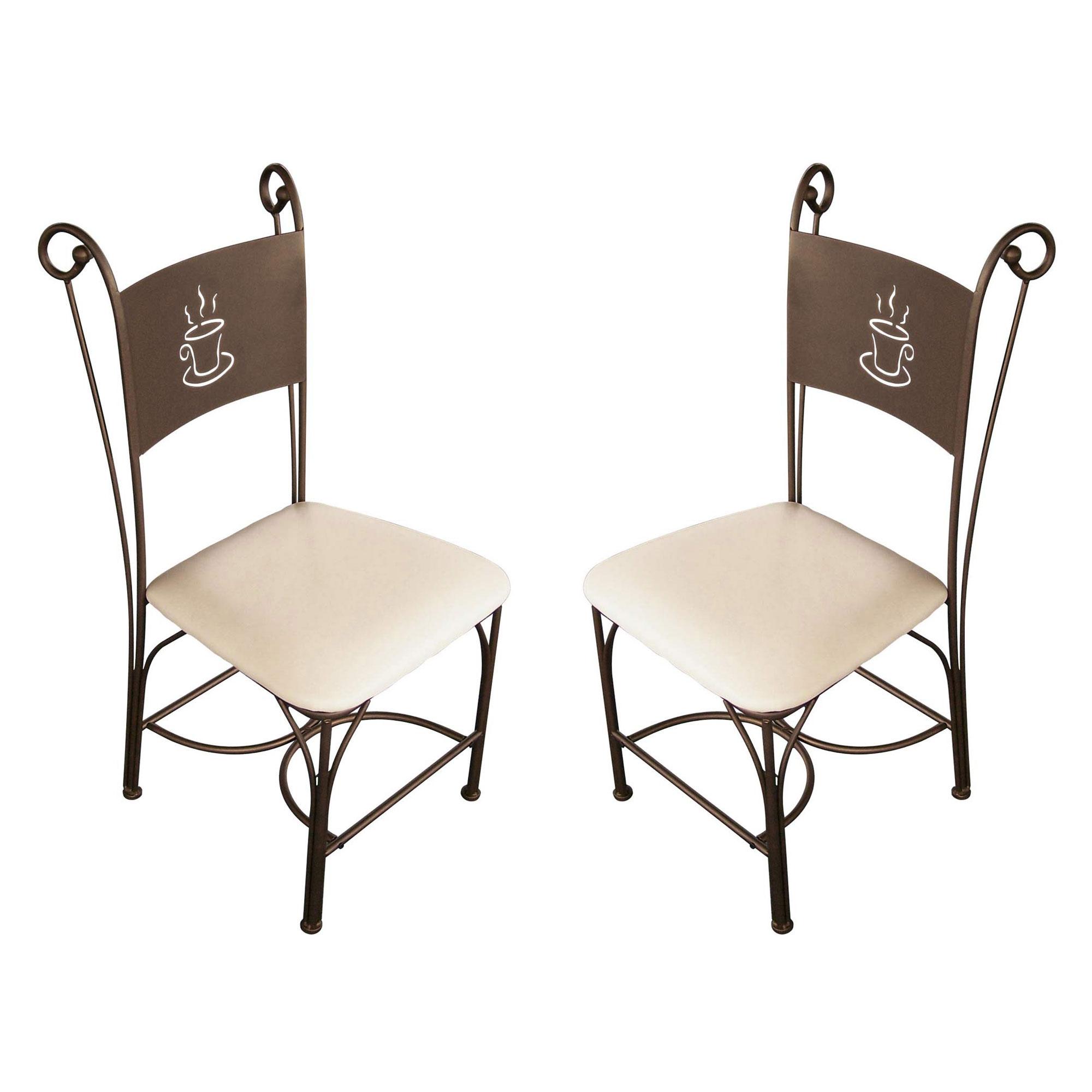 Les Tendances  Chaise de cuisine en fer forg bronze Coffee