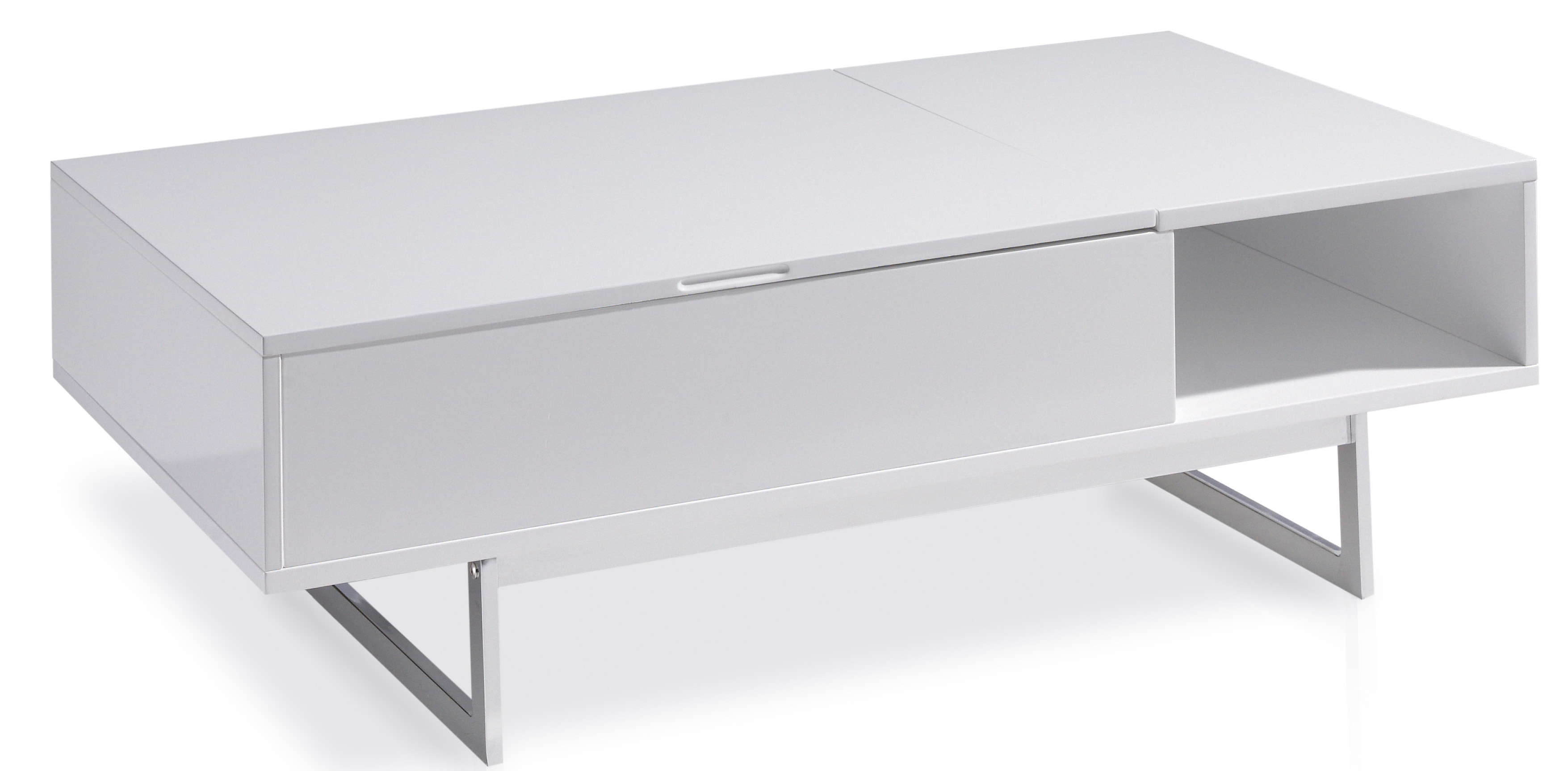 table basse relevable laquee blanc marsa
