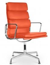 fauteuil de bureau raffine cuir orange maggy