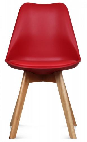 chaise scandinave rouge keny lot de 2