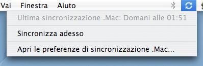 Sincronizzazione .mac