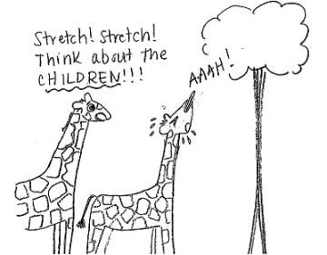 """""""Allungati! Fallo per i figli!"""" (Beatrice the Biologist)"""