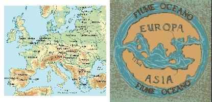 Una mappa moderna e una antica
