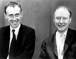 James Watson e Francis Crick nel 1953