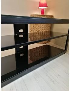 meuble tv hifi metal et verre