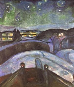 E. Munch, Notte di stelle