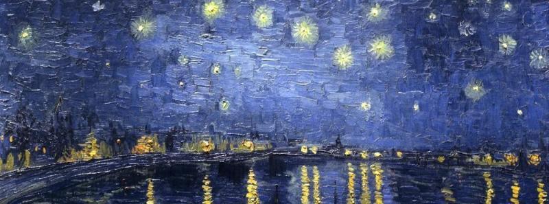 Vicent Van Gogh, Notte stellata sul Rodano NOTTURNI