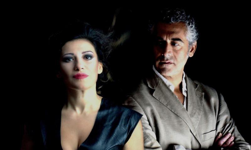 """David Coco e Valeria Contadino, al """"Must Musco Teatro"""" per l'eccezionale replica di """"La creatura del desiderio""""."""
