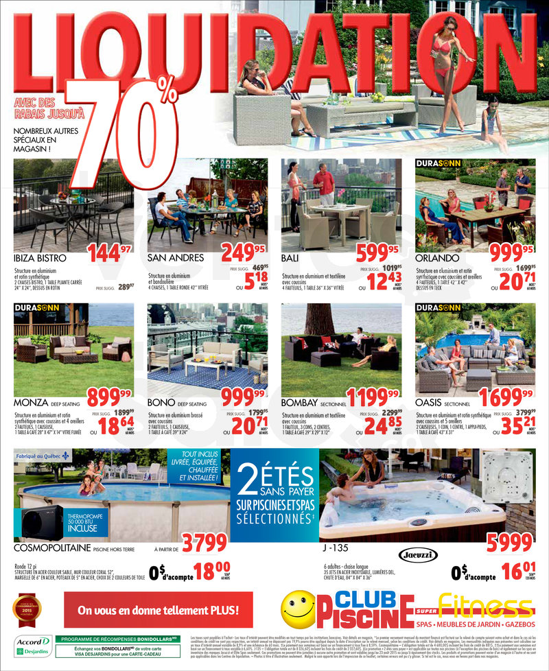 Club Piscine Liquidation 70 De Rabais Lesventesca