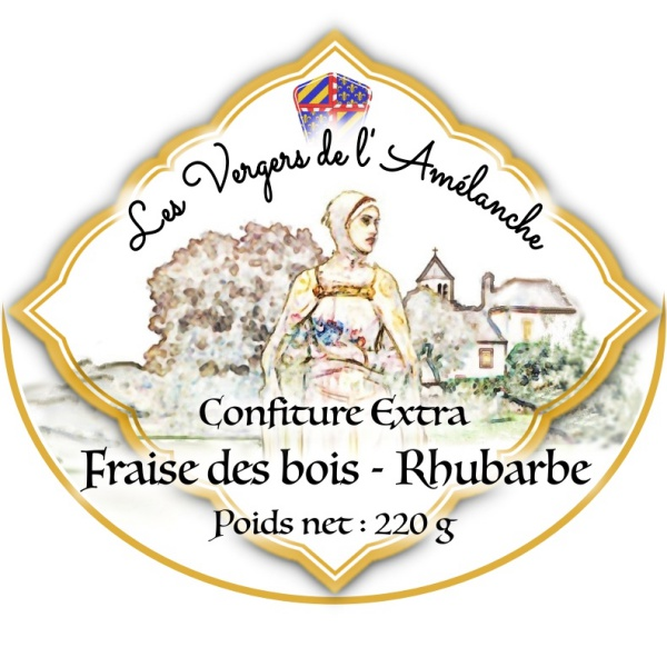 Confiture extra Fraise des bois – Rhubarbe – 110g/220g