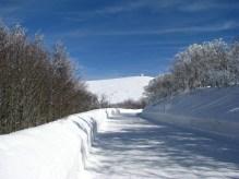 Route des Crêtes sous la neige