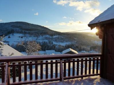 Paysage vu de la terrasse