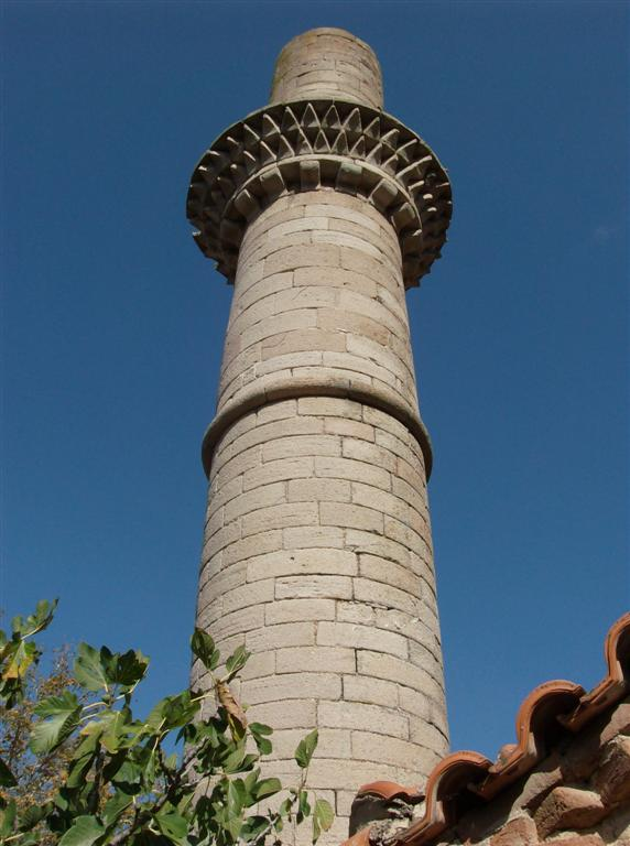 Turkish minaret in Skalachori Lesvos