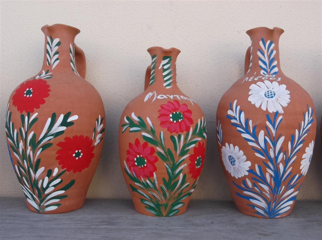 Local pottery and ceramics in Mandamados Lesvos