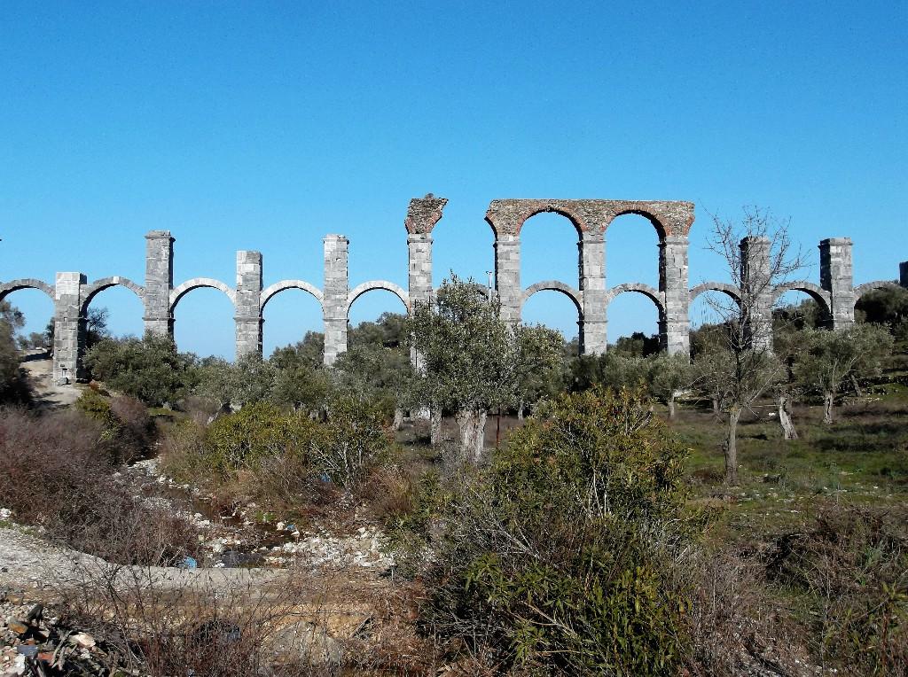 Roman Aqueduct in Moria Lesvos