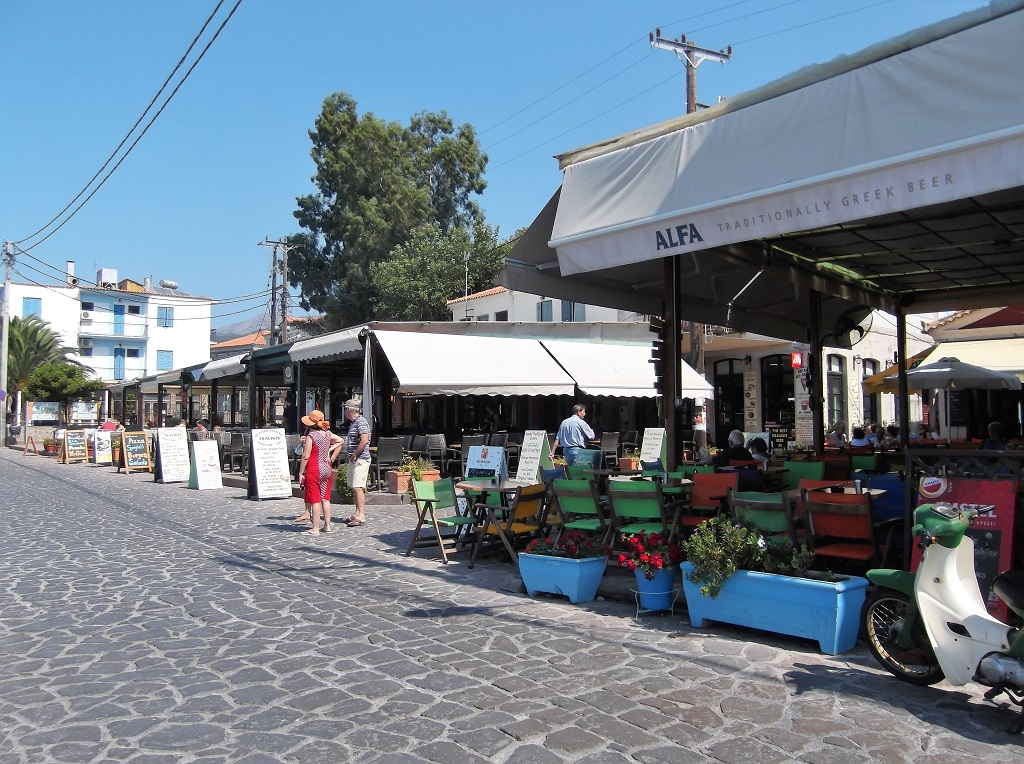 Central square (plateia) in Petra Lesvos