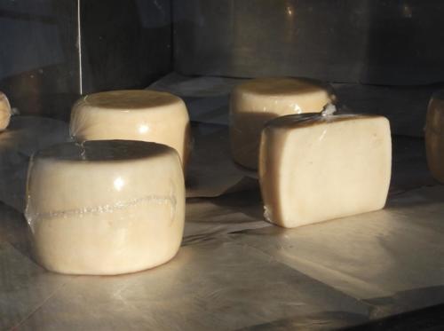 Ladotyri (local oil cheese) in Mantamados