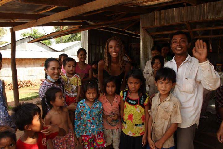 Erika au Cambodge