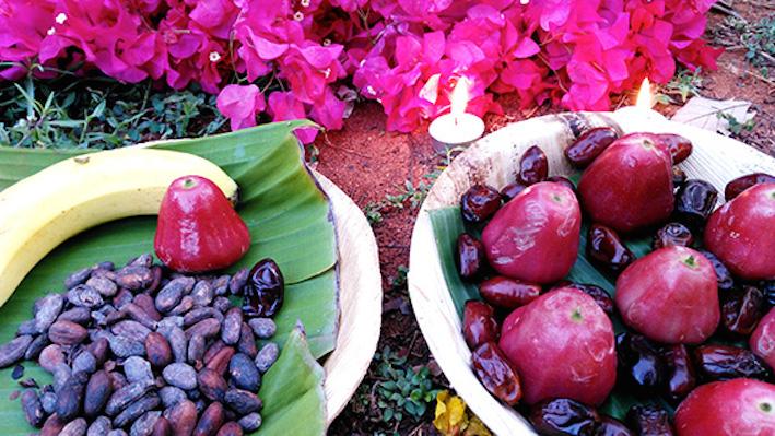 fruits en offrande