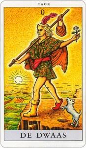 Tarotkaart 01 De Dwaas 0 grote Arcana De Tarot in de herstelde orde
