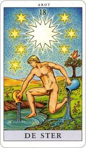 Tarotkaart 21 De Ster 18 grote Arcana De Tarot in de herstelde orde