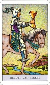Tarotkaart 55 Bekers Ridder